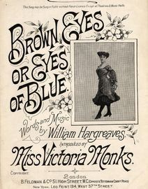 Brown Eyes or Eyes of Blue - Feldmans 6d Edition No. 46 - As Introduced by Miss Victoria Monks