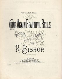 Chime Again Beautiful Bells - Song with Tonic Sol-Fa - Paxton Edition No. 1005