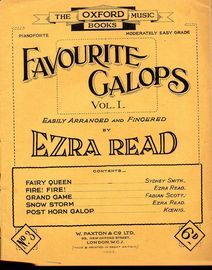 Favourite Galops - Vol. I, No. 3 - The Oxford Music Books Series - Moderately Easy Grade for Piano