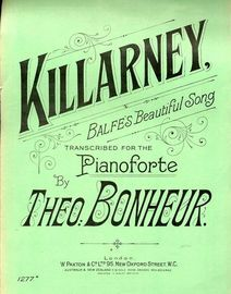 Killarney - Balfe\'s Beautiful Song - Transcribed for the Pianoforte - Paxton edition No. 1277