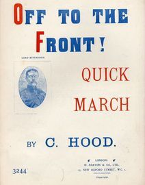 Off to the Front! - Quick March for Piano Solo - Paxton edition No. 3244