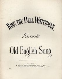 Ring the Bell Watchman - Favourite Old English Song - Paxton edition no. 31
