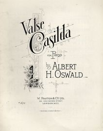 Valse Casilda - For Piano - Paxton edition No. 1672