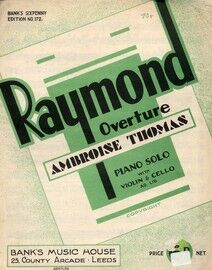 Raymond - Overture for Piano Solo
