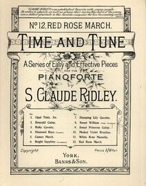 Red Rose March - Time and Tune Series of Easy and Effective Pieces for Pianoforte No.12