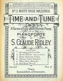 White Rose Mazurka - Time and Tune Series of Easy and Effective Pieces for Pianoforte No.11