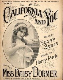 California and You - Song featuring Miss Daisy Dormer