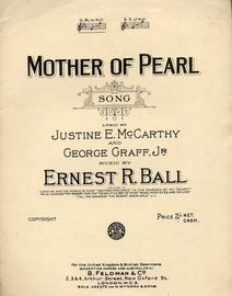 Mother of Pearl - Song - In key of E flat major - For Piano and Voice