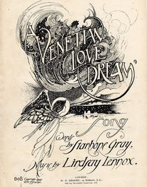 A Venetian Love Dream - Song - W. H. Broome Edition No. 898