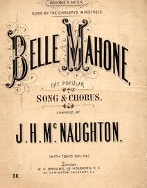 Belle Mahone - The Popular Song & Chorus - With Tonic Sol Fa