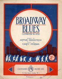 Broadway Blues (London Blues) - Song Fox-Trot for Piano and Voice
