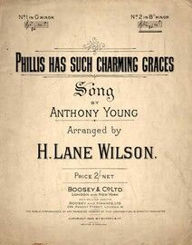 Phillis Has Such Charming Graces - Song in B flat Minor for High Voice