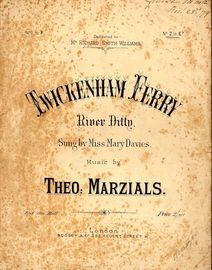 Twickenham Ferry - River Ditty - As sung by Miss Mary Davies - In the key of E flat major for low voice
