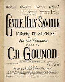 Gentle Holy Saviour (Adoro te Supplex) - Key of E flat