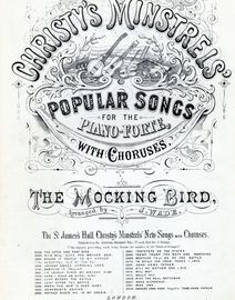 Christy\'s Minstrels\' Popular Songs for Piano - The Mocking Bird - Musical Bouquet No. 1670