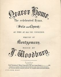 Nearer Home - Celebrated Hymn - Solo and Chorus - Musical Bouquet No. 3761