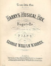 Harry's Musical Box - Bagatelle for the Piano - Musical Bouquet No. 4107