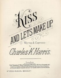Kiss and Lets Make Up - Musical Boquet No. 8938