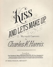 Kiss and lets Make Up - Musical Boquuet No. 8938