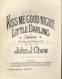 Kiss me Good night Little Darling - Song - Musical Bouquet No. 8948