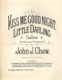 Kiss me Good Night Little Darling - Song - Musical Bouquet Series No. 8948