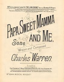 Papa, Sweet mamma and Me - Song - Musical Bouquet No. 8944
