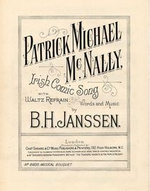 Patrick Michael McNally - irish Comic Song with Waltz Refrain - Musical Bouquet No. 8600