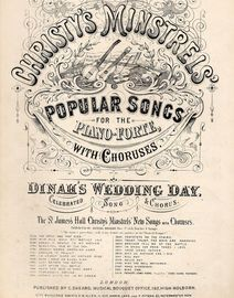 Christy\'s Minstrels\' Popular Songs for Piano - Dinah\'s Wedding Day - Musical Bouquet No. 2807