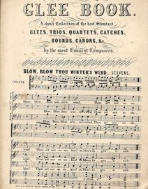 The Standard Glee Book - Blow, Blow Thou Winter's Wind