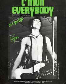 C\'mon Everybody - Recorded by The Sex Pistols on Virgin Records - For Piano and Voice with chord symbols