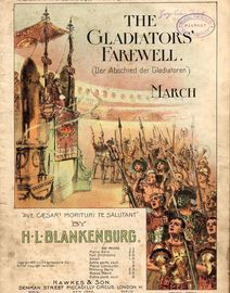 The Gladiators Farewell (Der Abschied der Gladiatoren) - March for Piano Solo - From