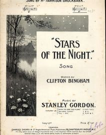 Stars of the Night - Song  - In the key of F major for high voice