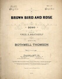 Brown Bird and Rose - Song In the Key of E Flat Major for Lower Voice
