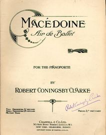 Macedoine - Air de Ballet for the Pianoforte