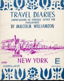 New York - Travel Diaries Series No. 5 - Impressions of Famous Cities for Pianoforte - Chappell & Co Edition No. 45910 - Grade E