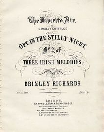 Oft in the Stilly Night - No. 2 of Three Irish Meldoies - For Piano Solo