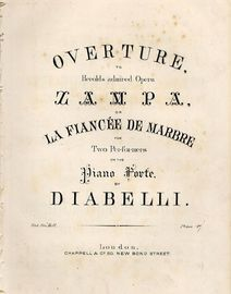 Overture to herolds admired Opera Zampa of La Fiancdee de Marvre - For Two performers on the Pianoforte