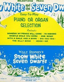 Selections from Snow White and the Seven Dwarfs - East to Play Piano or Organ Selection - For Piano and Voice