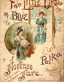 Two Little Girls in Blue - Polka - Howard & Co Edition No. 2604