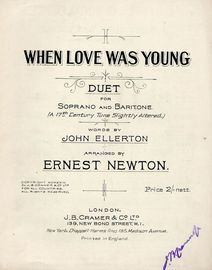 When Love was Young - Duet for Soprano and Baritone (A 17th Century Tune slightly altered)