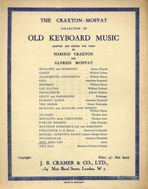 Why Aske You - The Craxton-Moffat collection of Old Keyboard Music adapted and edited for Piano