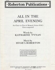 All In The April Evening - For a Trio of Women's Voices