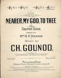 Nearer My God To Thee - Sacred Song - In the key of C major for high voice