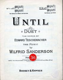 Until - Duet - In the key of F major - For Soprano and Tenor