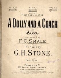 A Dolly And A Coach - Song - In the key of F major for medium voice