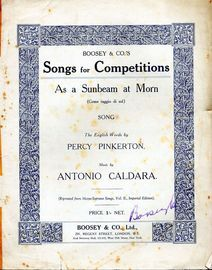 As a Sunbeam at Morn (Come raggio di sol) - Boosey and Co.'s Songs for Competitions Series