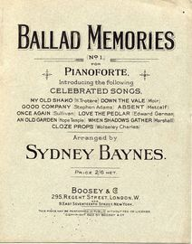 Ballad Memories No. 1 - Celebrated Songs For Pianoforte