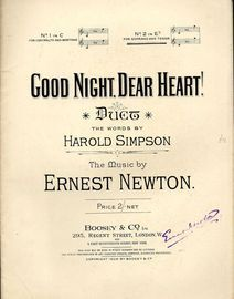 Good Night, Dear Heart! - Duet No. 2 in E flat for Soprano and Tenor