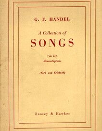 Handel - A Collection of Songs - For Mezzo Soprano - Volume III