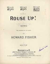 Rouse Up! - Song in the key of F major for High Voice